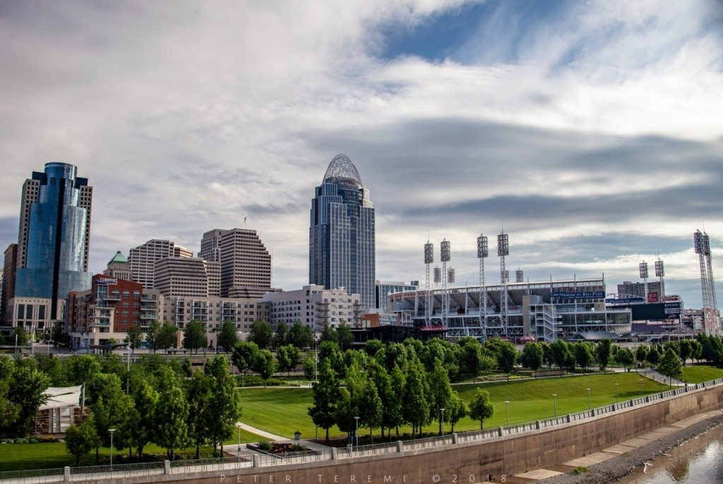 Cincinnati's Riverfront In The Morning
